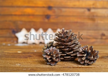 Christmas bump on a wooden background