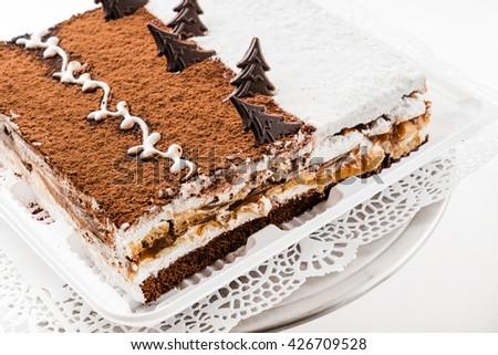 Christmas cake - stock photo