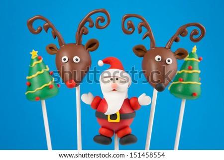 Christmas cake pops - stock photo