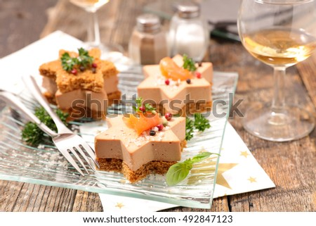 Canape stock photos royalty free images vectors for Foie gras canape