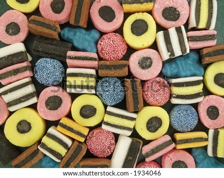 Christmas candies as a background, close-up - stock photo