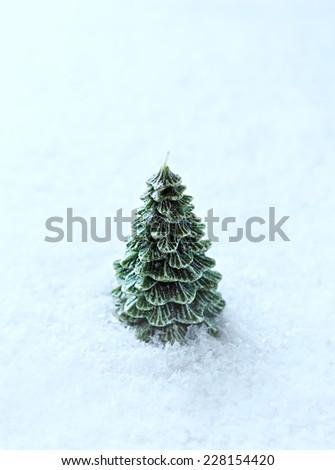 Christmas Candle - stock photo