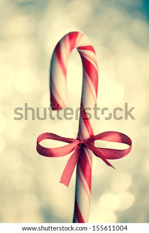 christmas candy cane - stock photo