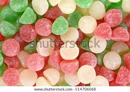 christmas candy gum drops background