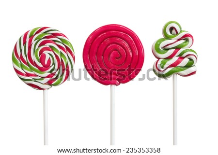 Christmas Candy isolated on white background  - stock photo