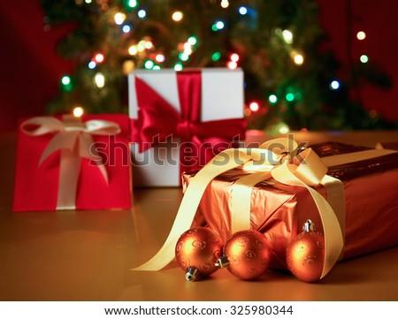 Christmas card. - stock photo