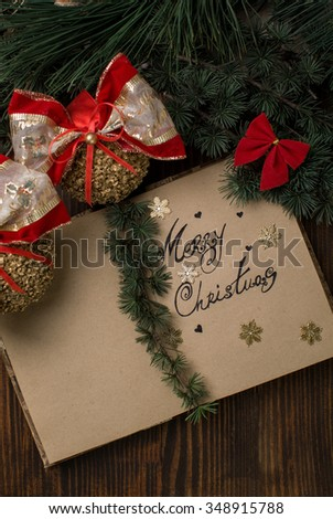 Christmas card and decoration
