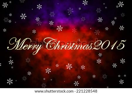 Christmas card 2015 background - stock photo