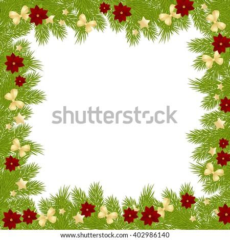 Christmas card background isolated on white background.
