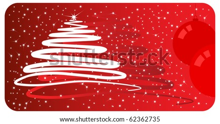 Christmas card - for vector see my portfolio - stock photo