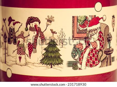 Christmas card, happy new year story - stock photo