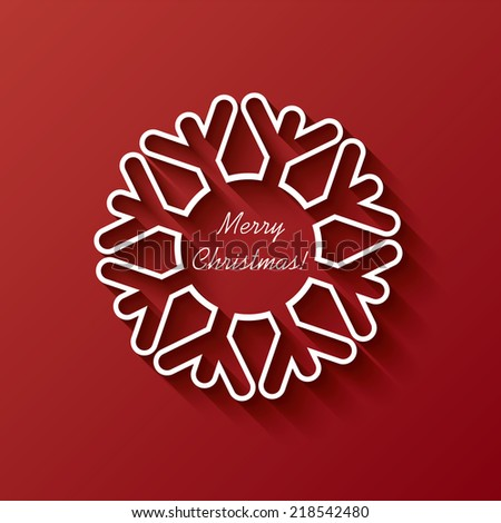 Christmas card illustration design suitable for party invitations, christmas greetings or promotion, etc. - stock photo