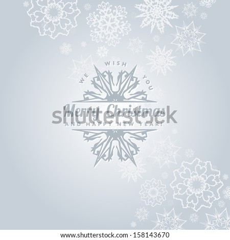 Christmas Card with calligraphic and typographic elements - stock photo
