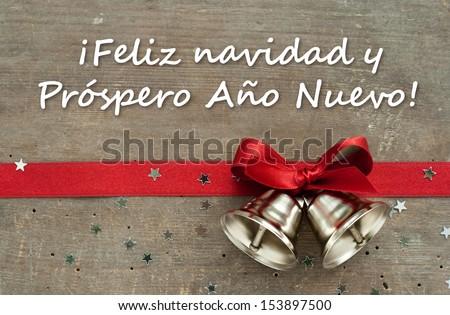 spanish merry christmas and happy new year 2017 elegant greeting