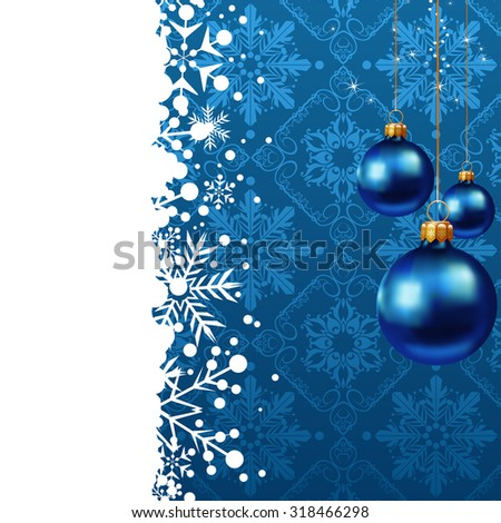 Christmas Card Xmas Wallpaper Christmas Background Christmas Decoration Ideas Blue color Christmas day Christmas baubles - stock photo