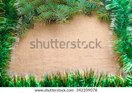 Christmas cards,Christmas background on a wooden rustic old table,horizontal photo - stock photo