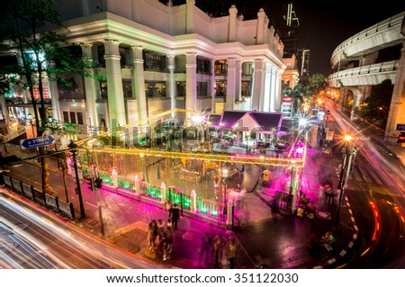 Christmas celebration in front of Central World shopping mall on December 14, 2015, Bangkok,Thailland