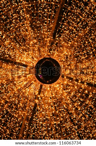 Christmas chandelier in Vienna, Austria - stock photo