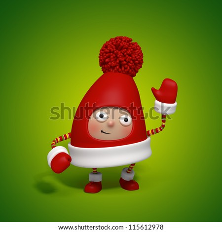 Christmas character cap - stock photo