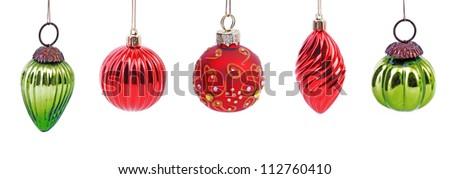Christmas. Christmas balls on white background. Christmas. Christmas decoration. Christmas. Christmas balls.  Christmas. Christmas balls isolated on white. Christmas. Christmas ball red and green.  - stock photo