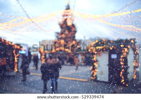 Christmas city landscape background blur sale