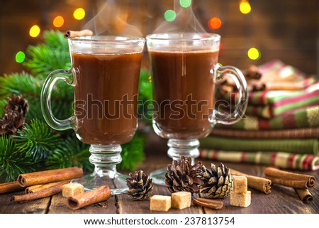 Christmas cocoa drink - stock photo