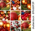 christmas collage - stock photo