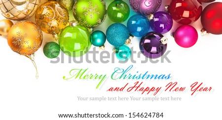 Christmas colored balls - stock photo