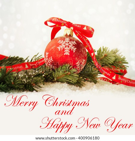 Christmas composition - stock photo