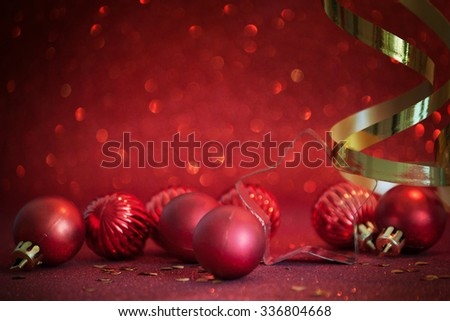 Christmas composition with decoration