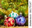 Christmas concept. decoration. New Year. christmas balls. - stock photo