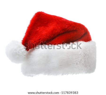 Christmas concept - Santa Claus red hat isolated on white background