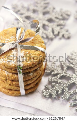 christmas cookie - stock photo