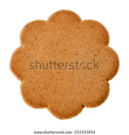 christmas cookie isolated on a white background - stock photo