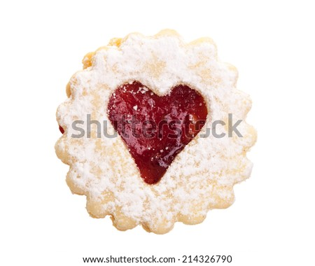 Christmas cookie isolated on white background - stock photo