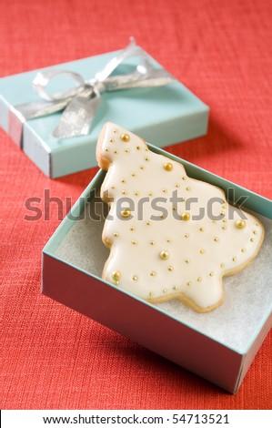 Christmas Cookie Tree Gift - stock photo
