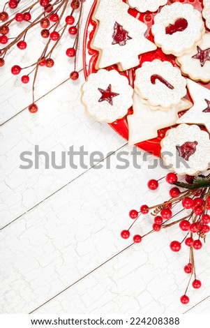 Christmas Cookies Border - stock photo