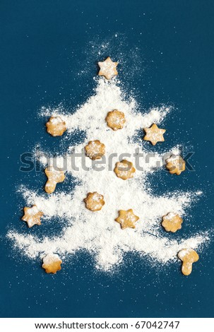 Christmas cookies. Christmas tree