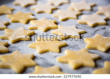 Christmas cookies for baking. - stock photo