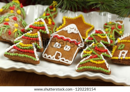 Christmas cookies - home made and handmade icing colorful ornaments