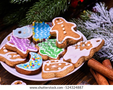 Plate Of Christmas Cookies Stock Images, Royalty-Free Images ...