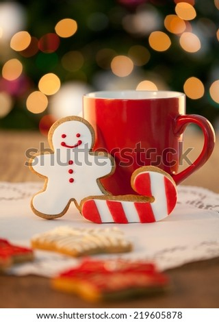 Christmas cookies - shallow DOF. - stock photo