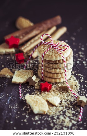 Christmas cookies, sugar and spices