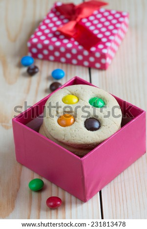 Christmas cookies with candy - stock photo