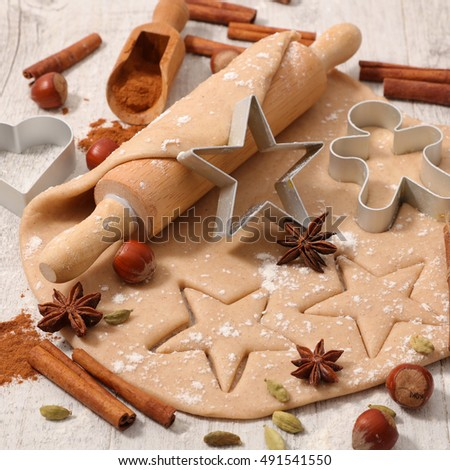 christmas cooking with baking ingredient