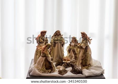 Christmas crib - stock photo