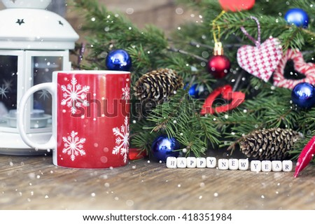 christmas decor and fir tree