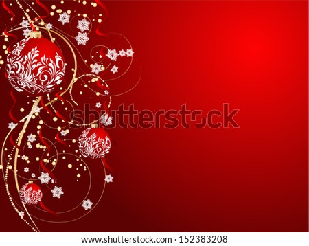 Christmas decorate card abstraction stylized illustration  - stock photo
