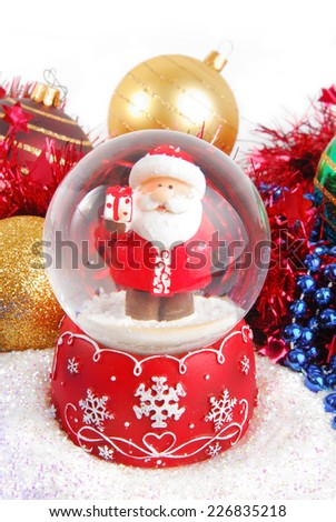 christmas decorate composition with glitter - stock photo