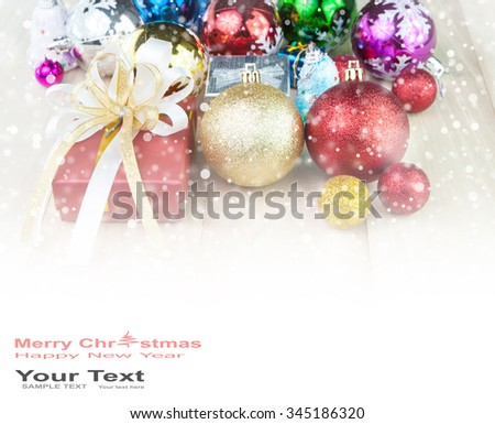 Christmas decoration abstract background - stock photo